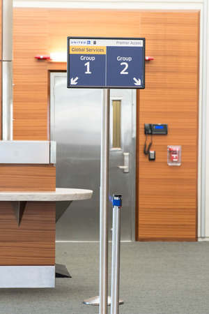 MSY, Louis Armstrong New Orleans International Airport, New Orleans, LA, USA - October 15, 2015:  boarding gate Editorial