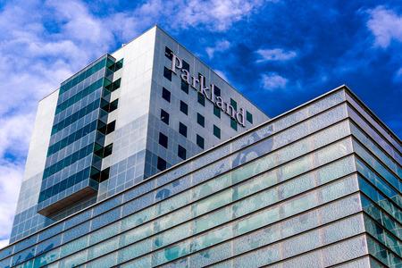 19 de agosto 2015 - Dallas, Texas, EE.UU.: vistas exteriores de la nueva adición a Parkland Memorial Hospital