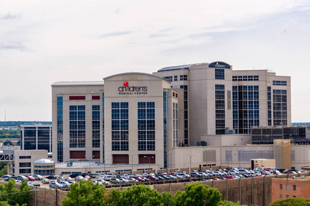 tx: August 19, 2015 - Dallas, Texas, USA: Exterior views of the new addition to the Childrens Medical Center Editorial