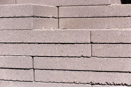 adoquines: outdoor building materials - stacked concrete masonry pavers