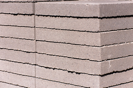 pavers: outdoor building materials - stacked concrete masonry pavers