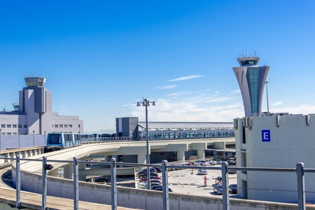 San Francisco International airport control tower