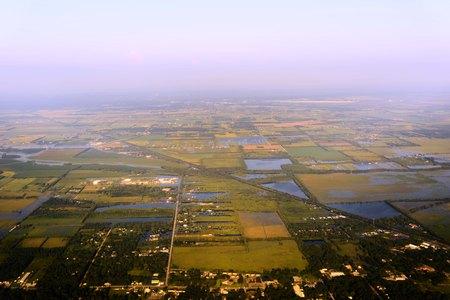 Houston aerial view 1 week after hurricane Harvey Editorial