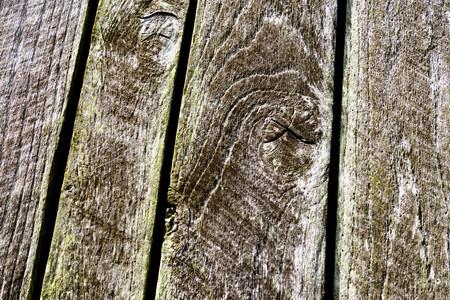 Madera de granero resistida al aire libre envejecida gris anudada y anudada