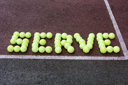 serve: Tennis serve  tennis ball abstract Stock Photo