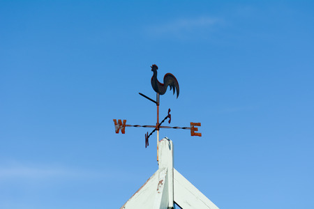 vane: Weather vane with cockerel on top Stock Photo