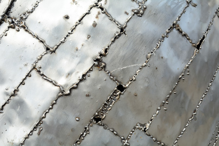 welded: Welded aluminum plates pattern