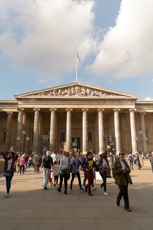 grand kid: Visitors outside British Museum London England Editorial
