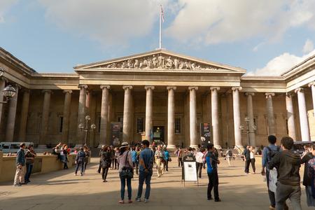 british museum: Visitors outside British Museum London England Editorial
