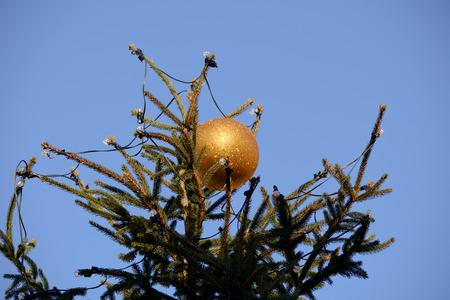 glitter ball: Christmas tree bauble  gold glitter ball