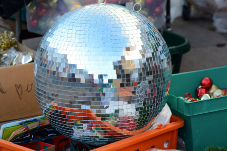 secondhand: Large glitter ball for sale in secondhand shop