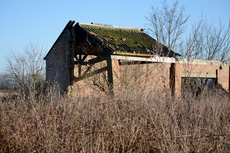 derelict: Derelict barn in the countryside Stock Photo