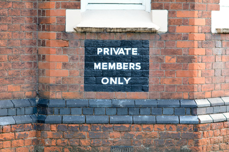 members only: Private Members Only sign Stock Photo