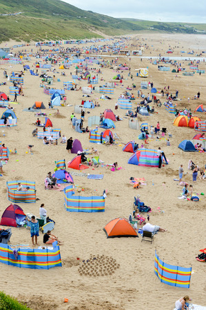 packed: Beach packed in summer time