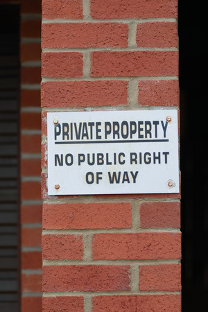 private access: Private Property sign Stock Photo