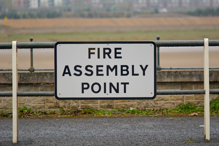 assembly point: Fire Assembly Point sign