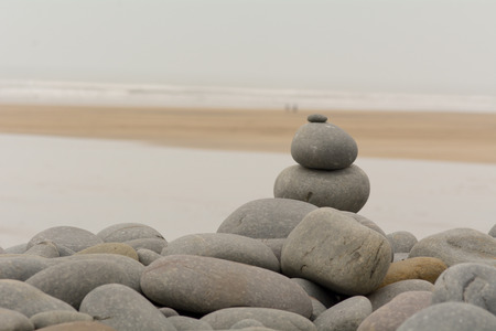 Stone stack on beach