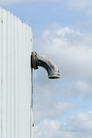 a unit: Industrial unit overflow pipe