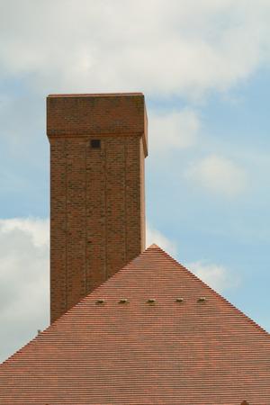 crematorium: Crematorium building chimney
