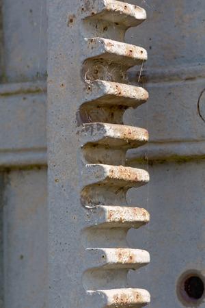 canal lock: Canal lock gear cogs