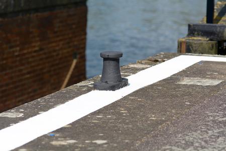 canal lock: Canal lock mooring post