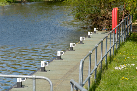 the mooring: Canal mooring posts for boats