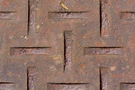 Einbuchtung: Metall-Drain-Abdeckung Muster