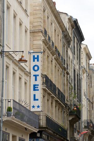 hotel: Two Star Hotel sign Stock Photo
