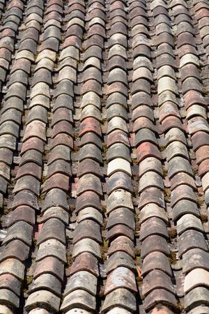 roof tiles: Terracotta roof tiles Stock Photo