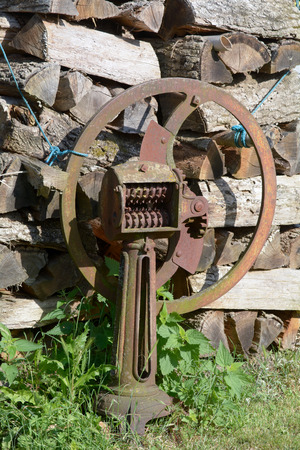 old farm: Rusty old farm machinery Stock Photo