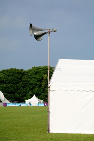loud speaker: Loud speaker cone at festival Stock Photo