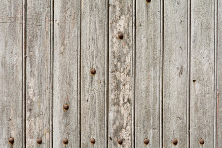rivets: Wooden door panels with rivets