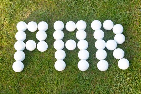 par: Par golf score - made using golf balls