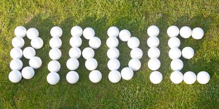 score under: Birdie - gold hole score made with golf balls