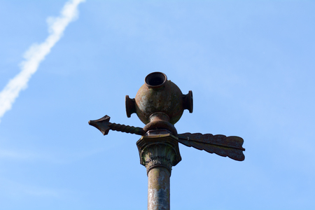 raid: Old air raid warning siren in Bedford, Bedfordshire, England Stock Photo