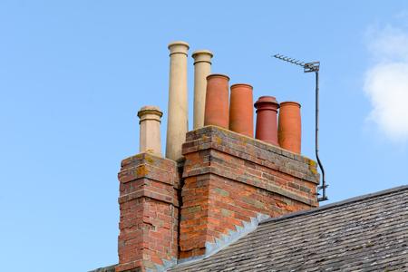 the 19th century: 19th Century Victorian chimney stacks Stock Photo