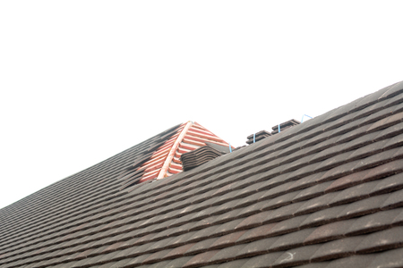 topper: Roof topper tiles ready for fixing to top of roof