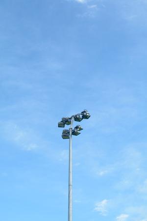 floodlights: Floodlights at sports stadium
