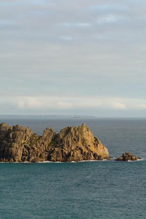 porthcurno: Logan Rock headland, Porthcurno, Cornwall, England