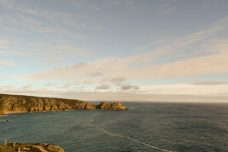 headland: Logan Rock headland, Porthcurno, Cornwall, England