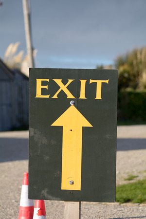 exit sign: Exit sign with arrow upwards - religious abstract