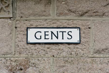 gents: Gents Toilet sign