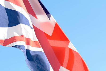 bandera blanca: Union Jack flag