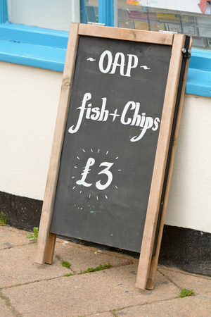 shop for animals: OAP Fish and Chips for 3.00 outside fish and chips shop
