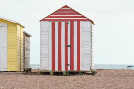 devon: Beach hut in Teignmouth, Devon, England