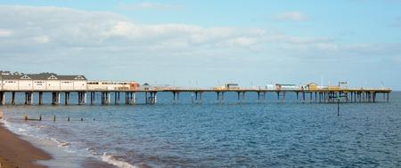 devon: Teignmouth Pier on sunny day in Devon, England
