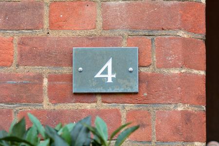 inform information: House number 4 sign