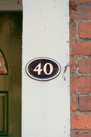 40: House number 40 sign Stock Photo