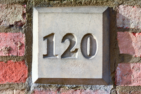 inform information: House number 120 sign
