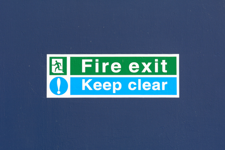 inform information: Fire Exit Keep Clear sign